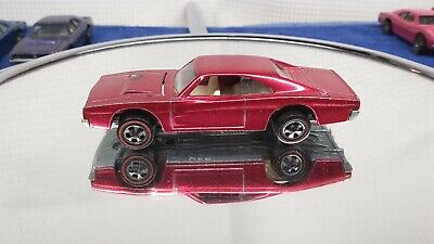 HOT WHEELS REDLINE 1969 CUSTOM CHARGER IN ROSE not red or pink GORGEOUS