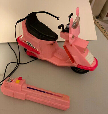"Vintage RC1980's Barbie Pink Arco Custom 5000 Action Scooter Moped For 11"" Dolls"