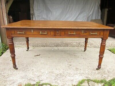 Edwardian Arts and Crafts library table (ref 758)