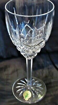 "Waterford Crystal Araglin Water Goblet, 7 7/8"" Tall, Older Mark, Used - Vg"