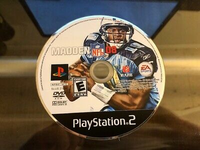 Madden NFL 08 (Sony PlayStation 2, PS2) WORKS / NO TRACKING / DISC ONLY