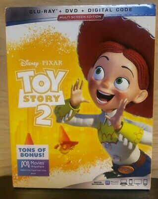 Toy Story 2  (Blu-ray+DVD+Digital Code, 2019; Multi-Screen Ed.) NEW w/ Slipcover