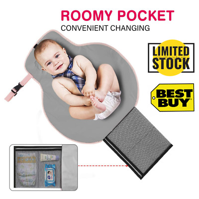 Portable Changing Pad Oneteks Baby Diaper Changing Pad with Built-in Head Cushion Travel Mat Station