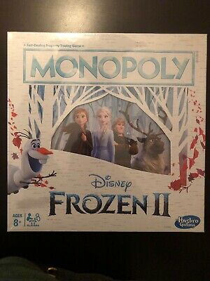 New In Box  Monopoly - Disney Frozen II Edition Board Game Gold Hair Hasbro