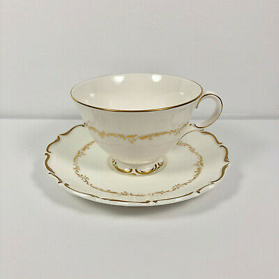 Royal Doulton Richelieu Footed Cup and Saucer English Fine Bone China