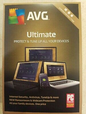AVG Ultimate 2020 - Unlimited Devices Windows/Android 1 Years Brand New