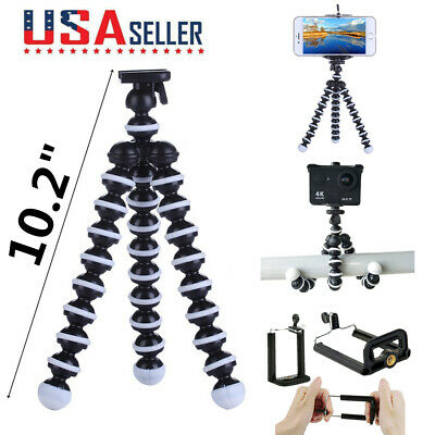 "10.2"" Flexible Tripod Octopus Compact Stand Mount Holder For iPhone DSLR Camera"