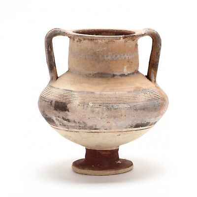 Authentic Antiquity Cypro-Archaic Footed Amphora circa 750 B.C.
