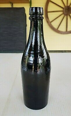 Black Glass Early Stout Shape Half Size Beer