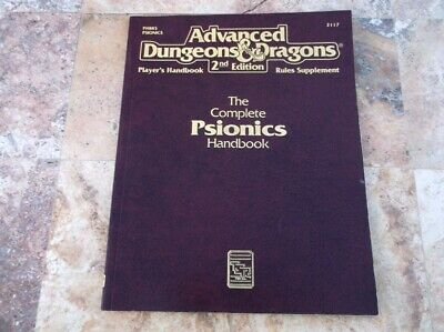 Psionics Handbook Advanced Dungeons & Dragons AD&D 2nd Edition Rules Supplement