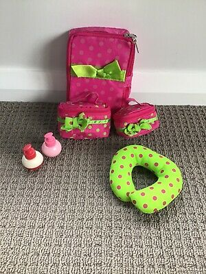 Pink And Green Suitcase Set, Our Generation  (designed For 18 Inch Dolls)