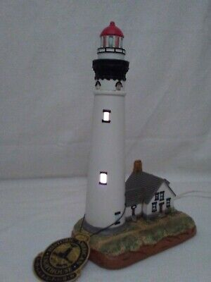 """Lighted Lefton's Historic American Light House Collection 12"""" Presque Isle"""