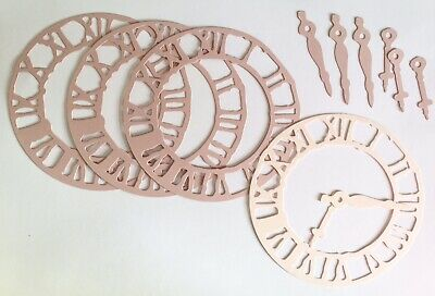- White Tim Holtz pack Of 4 Large Steampunk Clock Die Cuts