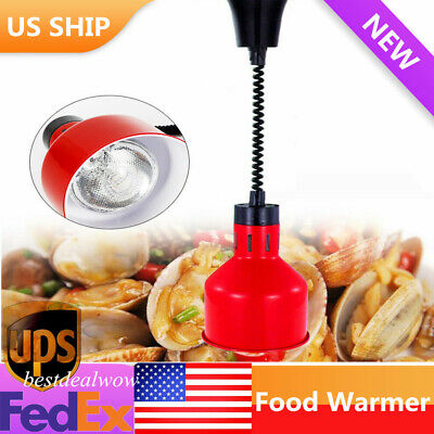 Portable Heat Lamp Food Warmer Red Commercial Buffet Food Court Restaurant
