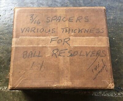 Horology Watchmaking Spacers Various Thickness For Ball Resolvers Antique Clocks