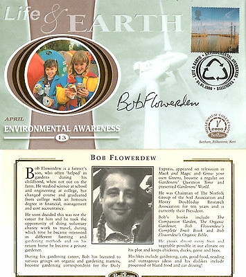 4 April 2000 Life And Earth Benham Small Silk Fdc Signed By Bob Flowerdew