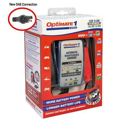 OptiMate 1 Duo Battery Charger For Lead Acid Gel and Lithium Batteries