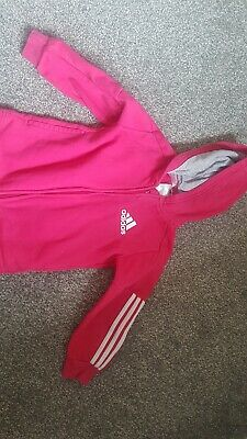 girls adidas hoodie pink age 2-3 good condition