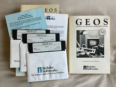 Commodore 64 GEOS v2.0 disks complete with manual