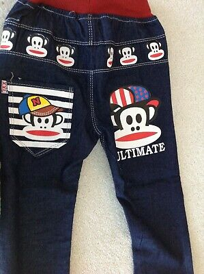 Boys Monkey Elasticated Jeans age 3 years New