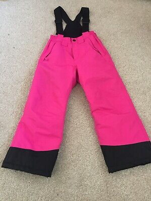 Ski Trousers/Salopets Girls Pink Suitable for children age 5-6