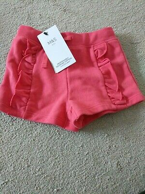 BNWT M&S Marks Spencer 2 Years Girls Shorts pink