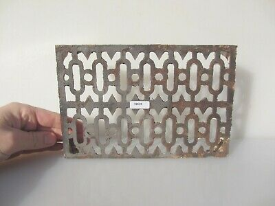"""Victorian Iron Air Brick Vent Grille Grate Architectural Antique Old 9x6"""""""