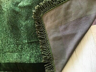Superb Antique Dark Green CHENILLE Large Table Cover/Throw Immaculate, Trademark