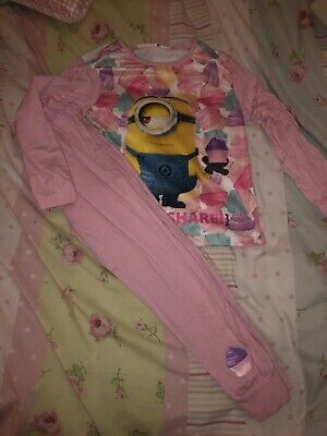 Girls Minion Pyjamas 6-7 Years
