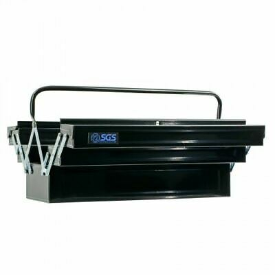 "Heavy Duty Metal Cantilever Tool Storage Box 21"" Long Professional Quality"