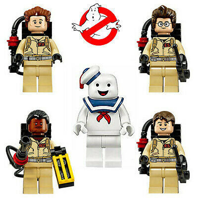 5x Ghostbusters Minifigure Set - Inc Stay Puft Marshmallow Man fits lego