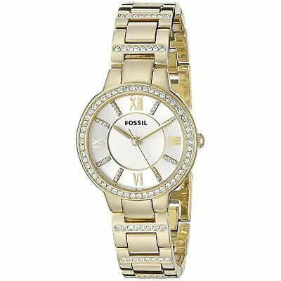 Fossil ES3283 Virginia 30MM Women's Crystal Gold-tone Stainless Steel Watch