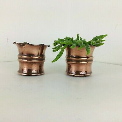 Pair of Vintage Antique Art Nouveau copper jardinière Arts & Crafts planter pots
