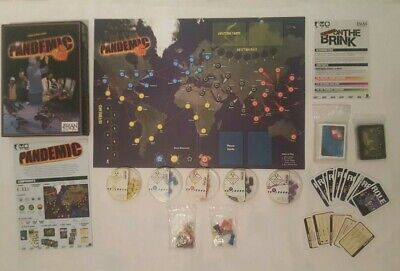 Pandemic Board Game by Z-Man Games + Extra Cards and Pieces - 1st Edition