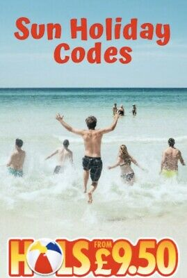 SUN HOLIDAY CODES 2020 - All 10 codes to book Sun £9.50 Holidays - See Note