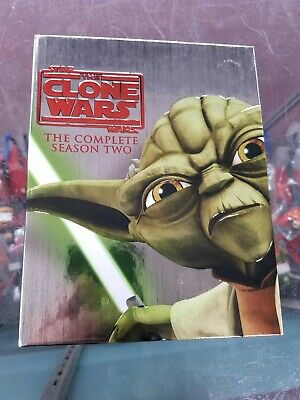Star Wars The Clone Wars - The Complete Season 2 Blu-ray Set Mandalorian NM