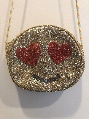 NWT J Crew Crewcuts Girls/' Candy Bag// Purse Foil Wrapped Piece Of Candy Gold