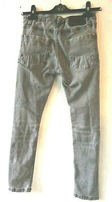 BOYS SKINNY JEANS FROM NEXT Grey Aged 11 Years  trousers/pants Adjustable Waist