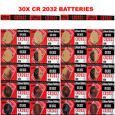 30 x CR2032 Battery BR2032 DL2032 Branded 3V LITHIUM Coin Cell Button Batteries