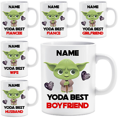 Personalised Star Wars Yoda Best Name Love Mug Cup Gift Birthday Valentines