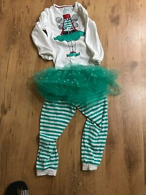 marks and spencer girls elf pjs age 5-6 years