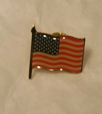 Lot of 4(Four) Lapel or Hat PINs - Waving American Flag - USA - U.S.A.