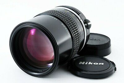 NIKON Nikkor 135mm f/2.8 MF Non-Ai Lens w/ Caps From JAPAN [Exc+++] #538288A