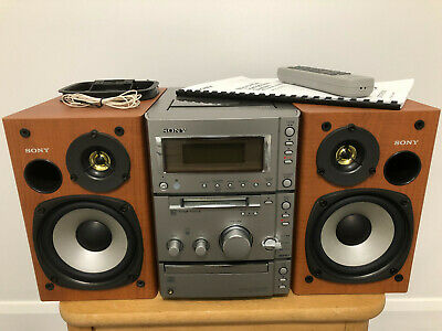 Sony HiFi Stereo Mini Disc Recorder CD Player Cassette Radio Amp CMT-CP505MD