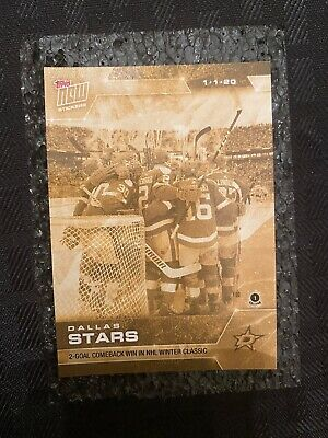 🛑👀 2019-2020 Topps Now Nhl Gold Sticker Dallas Stars 119G🔥 Card On Hand!