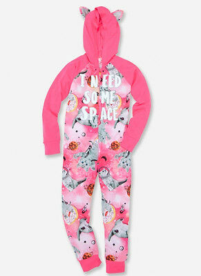 Justice Girls Size 12 Girls Can Panther Glow In The Dark One Piece Pajamas
