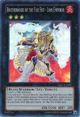 ** Brotherhood Of The Fire Fist - Lion Emperor ** Cblz-En099 Super Rare Yugioh!