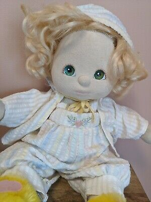 ** My Child Doll in Original Seersucker Outfit with Extra Outfit and Slippers**