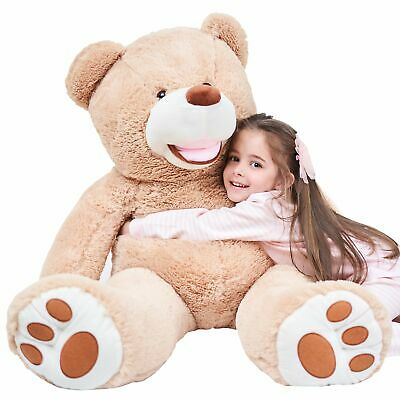 Giant Teddy Bear Gift For Valentines Plush Toy Stuffed Animals Brown 39 Inches