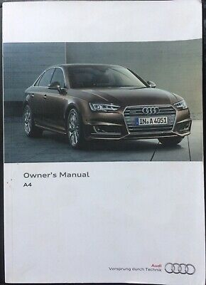 Genuine Audi A4 2016 Owners Manual